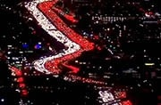 WATCH: Aerial footage shows massive traffic jam in Los Angeles ahead of Thanksgiving holidays