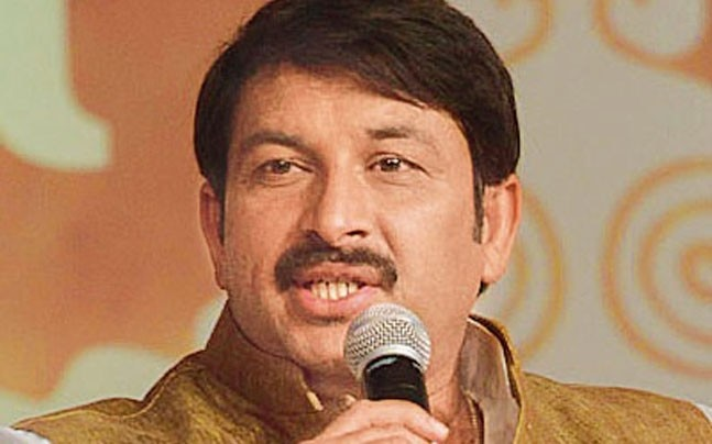 Delhi BJP chief Manoj Tiwari.