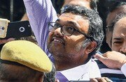 Karti being produced by the CBI at Delhi's Patiala House court. Photo: Mail Today/Pankaj Nangia