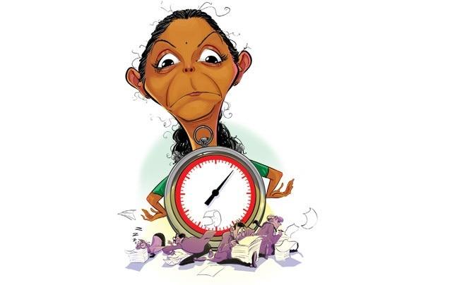 Nirmala Sitharaman. Illustration by SIDDHANT JUMDE