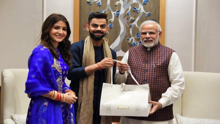 PM Modi congratulates Virat and Anushka on their wedding. Photo: @PMOIndia