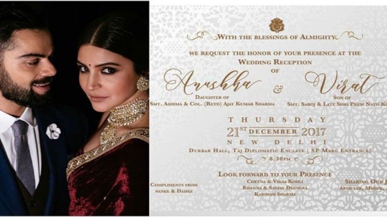 Virat Kohli and Anushka Sharma are hosting their first wedding reception in Delhi tonight