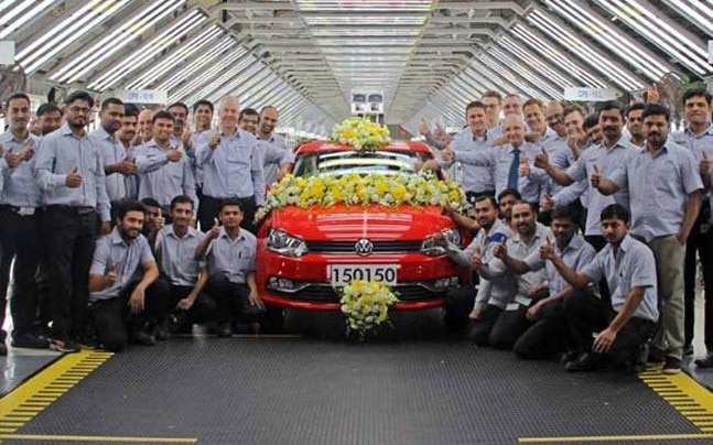 The production of export units which includes Volkswagen Polo and Vento stood at over 93,100 cars. Over all, the total number of cars rolled out of the plant has crossed 870,000 units.