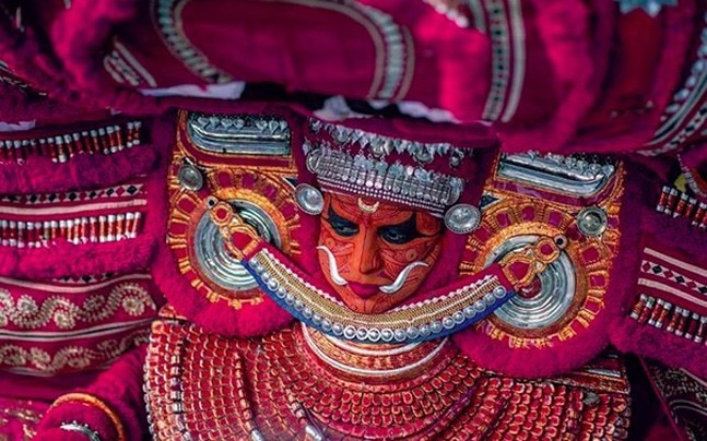 A glimpse of Theyyam, Kerala. Picture courtesy: Instagram/nishan_nikon