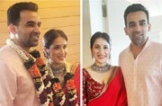 SEE PIC: Zaheer Khan and Sagarika Ghatge tie the knot in an intimate ceremony