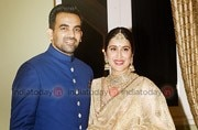PHOTOS: Zaheer Khan and Sagarika Ghatge make for a picture-perfect couple at their wedding reception