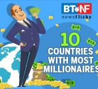 Which countries have the most millionaires?