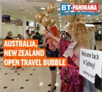 Emotional scenes at airport as New Zealand-Australia travel bubble opens