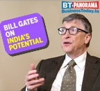 Bill Gates is excited about India's potential for growth despite the slowdown