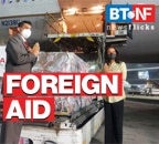 How much Covid-19 foreign aid has India received so far?
