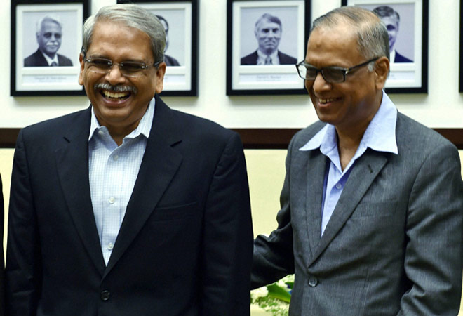 Kris Gopalakrishnan, the last among its founders to leave Infosys, was given a farewell at the company headquarters where co-founder N R Narayana Murthy said he had no regrets about his controversial second come back.