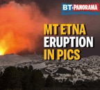 Mt Etna, one of the most active volcanoes, doesn't fail to amaze