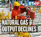 Domestic natural gas production declines 12.2% in FY21