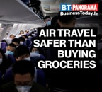 Flying on a plane safer than buying groceries?