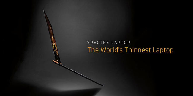 HP has announced the launch of the Spectre 13, which it claims to be the world's thinnest laptop.