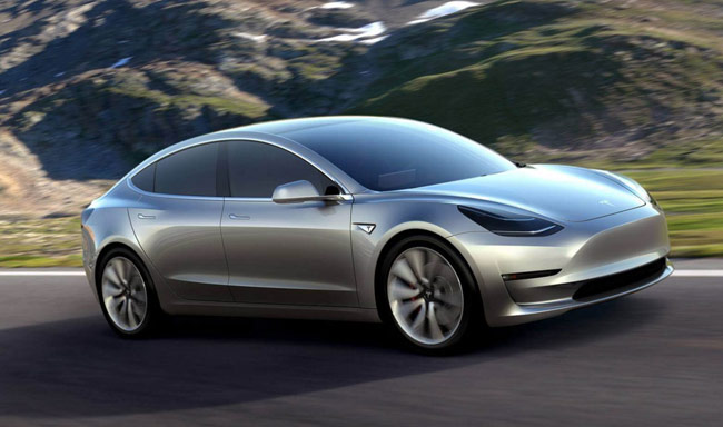 Tesla Motors on Thursday gave a sneak preview of its Model 3 sedan, saying more than 130,000 people had ordered the car, even though it is more than a year away from production.