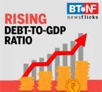 India's debt-to-GDP to increase to 87.6% in FY21 from 72.2%