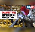 Sharpest contraction in industrial production recorded since 2011-12