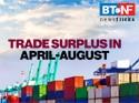 India sees $14.20 billion trade surplus in April-August