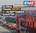 Global trade drops 5% in September quarter