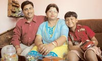 Manoj Kumar Thakur with family