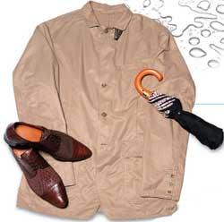 Beige jacket from Versace