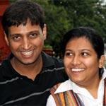 Lokesh Rao with wife