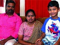 Bala Krishnan (with wife and son)