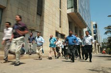 An evacuation drill at HUL's new headquarters in Andheri.
