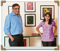 Future's Kishore Biyani with daughter Ashni