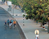 Riders at the Marine Drive in Mumbai