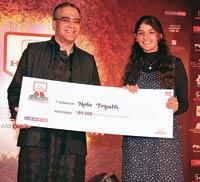 Aroon Purie with Neha Tripathi