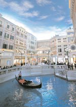 The Grand Canal and 330-outlet shopping arcade occupy the entire third floor