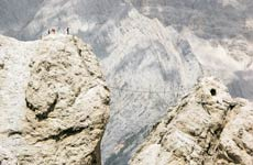 Crossing the Via Ferrata or the 'iron path' in Italy's Dolomite mountains isn't for the faint hearted