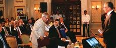 Pranab Mukherjee and Aroon Purie