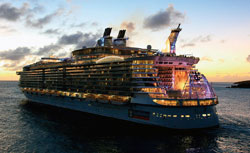 'Allure of the Seas' bears the distinction of being the largest cruise ship in the world