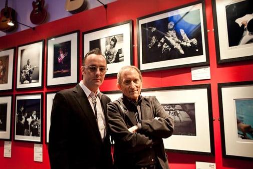 Dave Brolan (L) with photographer Baron Wolman