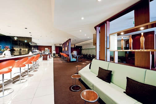 Ethiad Aiways business lounge