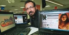 ibibo's Rahul Razdan in his office