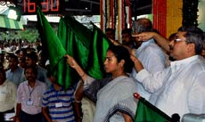 Banerjee flags off the Singur-Howrah Express