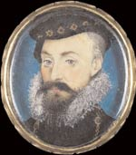 Robert Dudley, Earl of Leicester, by 16th century miniature artist Nicholas Hilliard