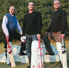 SG Chairman Kailash Anand (right) with nephew Paras (centre) and brother Trilok, both directors