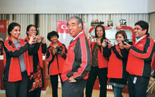 Canon India's Konishi (C) and his team: Growing step-by-step