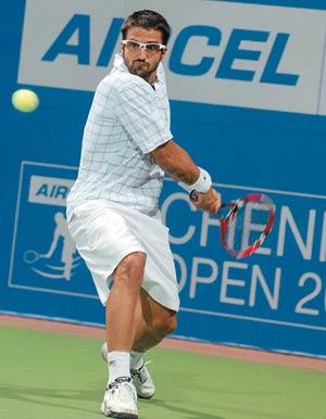 Janko Tipsarevic (World No. 9) at the Chennai Open in 2010.