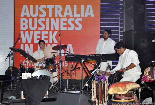 The Keralite band that performed at the event