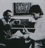 Ravi Shankar and George Harrison;