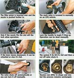 How to refuel a gas vehicle