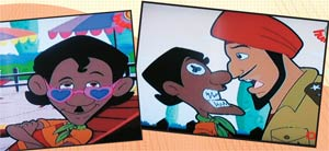 Scenes from Chor Police, an animated serial