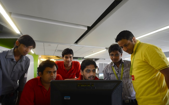 The TableGrabber team at work at the accelerator