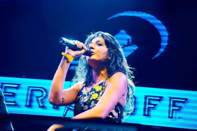 Monica Dogra performing at The Eristoff Wolves Den (Image courtesy: NH7 Weekender)